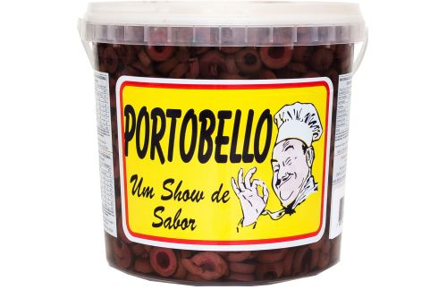 AZEITONAS PRETAS FATIADAS - PORTOBELLO